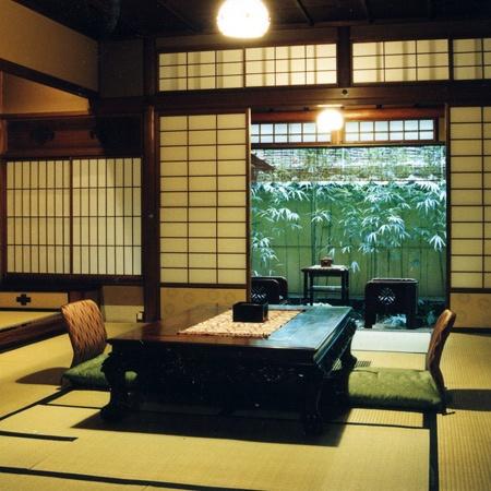Sumiya Ryokan, Kyoto. Ryokan is japanese style hotel.