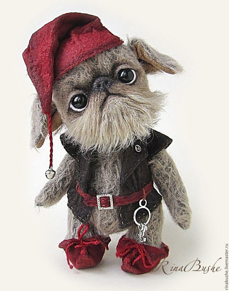 Купить Гном Бальбо - коричневый, гном, гриффон, собака игрушка, друг тедди, друг