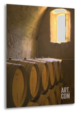 Niebaum-Coppola Estate Winery Wine Cellar, Rutherford, Napa Valley, California Metal Print by Walter Bibikow at Art.com