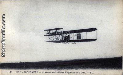 Cartes Postales Photos NOS AÉROPLANES. - L'Aéroplane de Wilbur Wright au vol 64000 PAU pyrénées atlantiques (64)