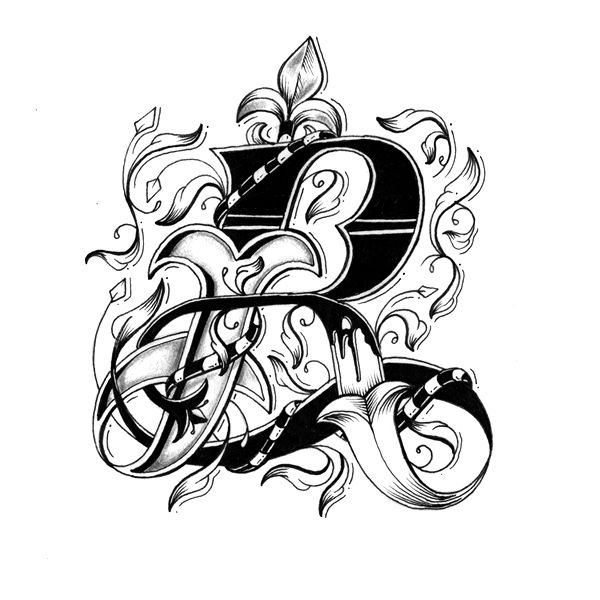 R - Love Letters - Hand Drawn Alphabet by Raul Alejandro , via Behance