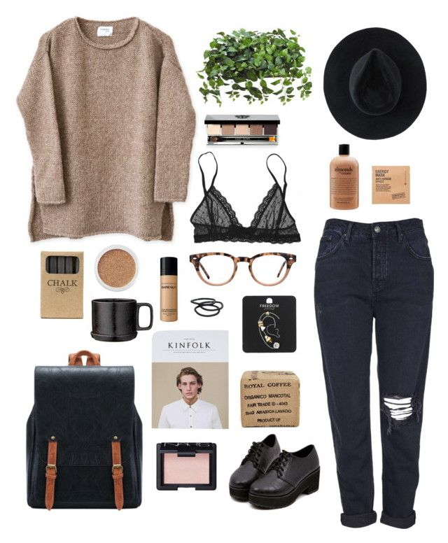 total coffee by svsix on Polyvore featuring Topshop, Eberjey, Ryan Roche, Burberry, Goody, NARS Cosmetics, Bobbi Brown Cosmetics, Bare Escentuals, Comodynes and philosophy