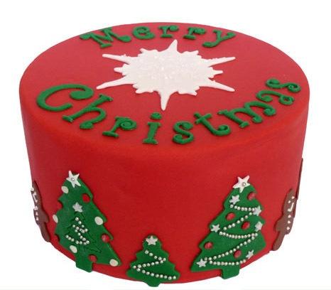 Kersttaart: Merry Christmas