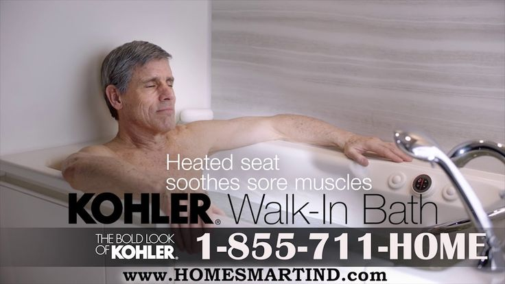 Did you see the new KOHLER Walk-In Bath Commercial? Home Smart has a new KOHLER Walk-In Bath tv commercial (KOHLER Walk-In Tub Commercial) to bring you a safe bathtub. KOHLER Belay Walk-In Bath is a safety walk-in bath or walk-in tub that is a great alternative to traditional bathtubs and showers. Don't risk falling getting in or out of your bathtub. Take a safe step into the KOHLER Walk-In Bath with your Exclusive, Authorized KOHLER Walk-In Bath Dealer, Home Smart. Pennsylvania, Delaware...