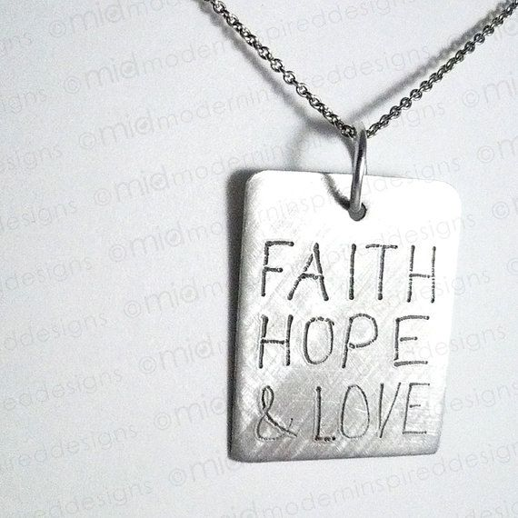 17 best images about christian stuff on pinterest for Faith hope love jewelry