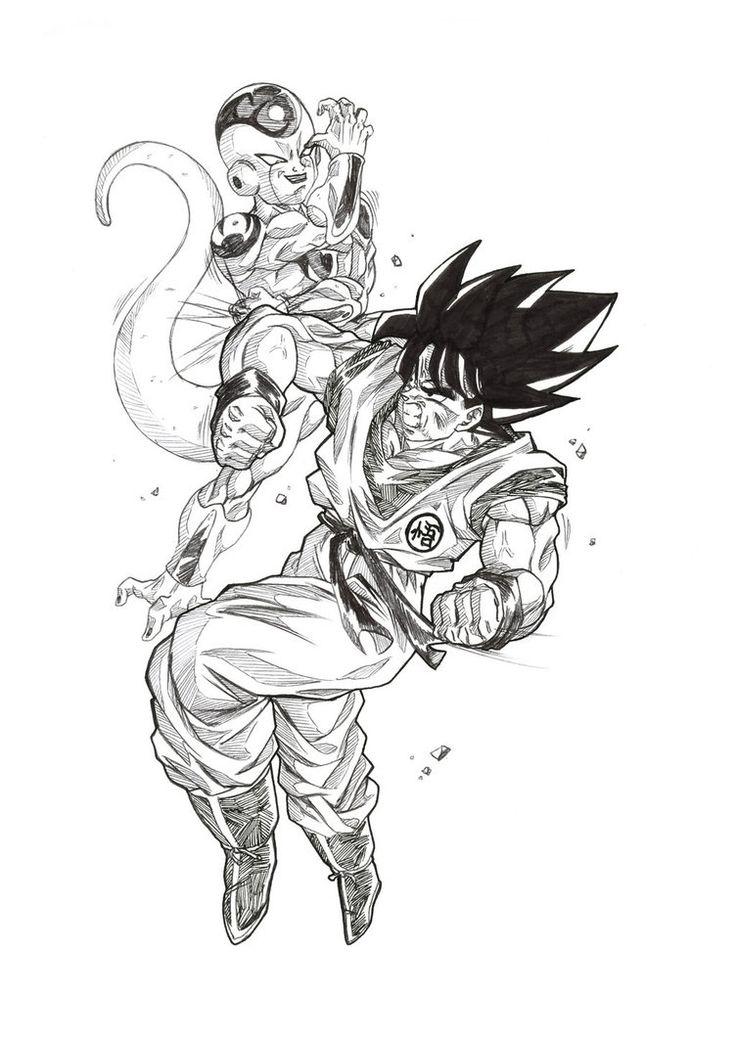 Goku vs frieza by Bloodspl4sh