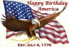 Happy Birthday America  July 4,1776
