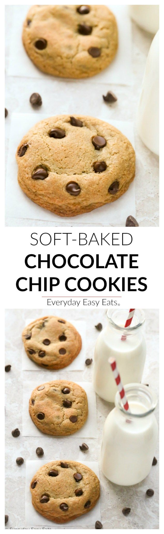 The only recipe for chocolate chip cookies you will ever need! Soft, chewy and loaded with chocolate chips!