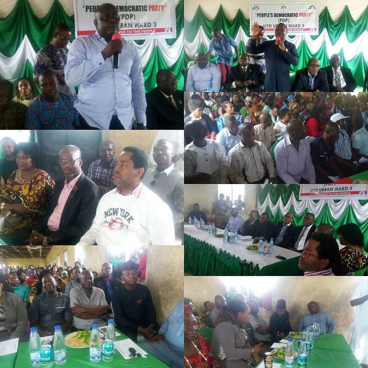 Photos from #UyoPDPWardTour Ongoing at CKS Primary School Uyo.  The Stakeholders of Peoples Democratic Party in Uyo LGA moved to Ward 3 Uyo LGA in the ongoing Mobilization and Sensitisation tour.  The tour is aimed at engaging and reaching out to people at the grassroot at close range to communicate and share government programmes projects achievements as well as creating awareness on voters registration and thanking them for the Mandate given to the Governor and all the candidates during…