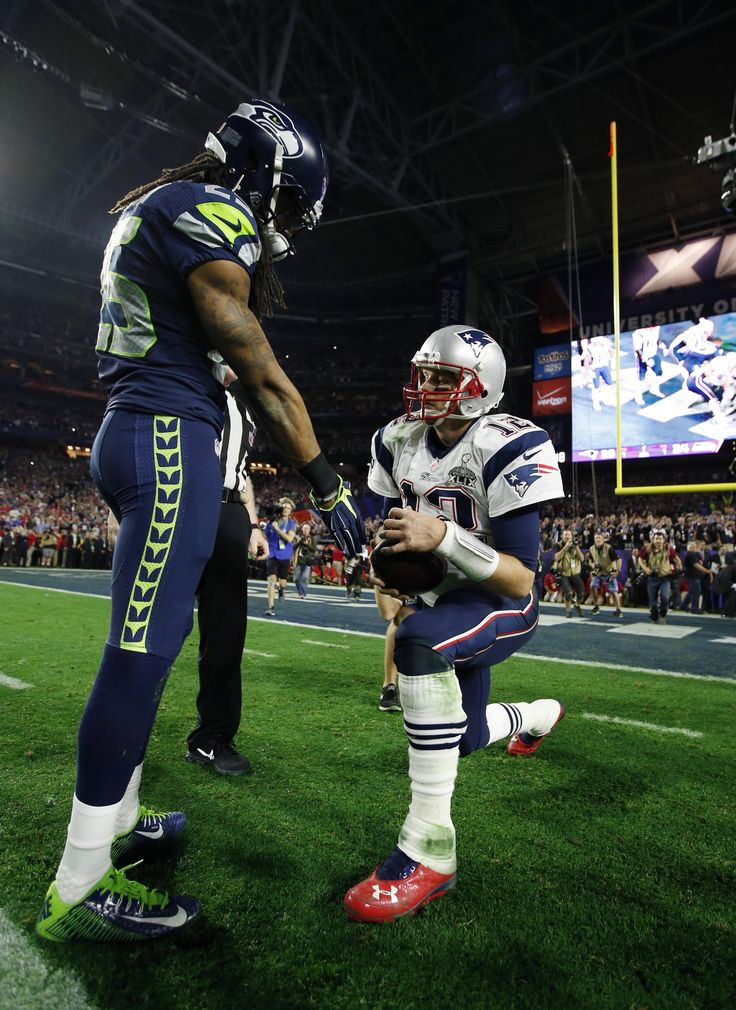 Richard Sherman, Tom Brady combine for the defining photo of Super Bowl XLIX | Shutdown Corner - Yahoo Sports