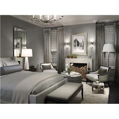 Elegant Transitional Bedroom by Michael Abrams - very monochromatic but I like it.
