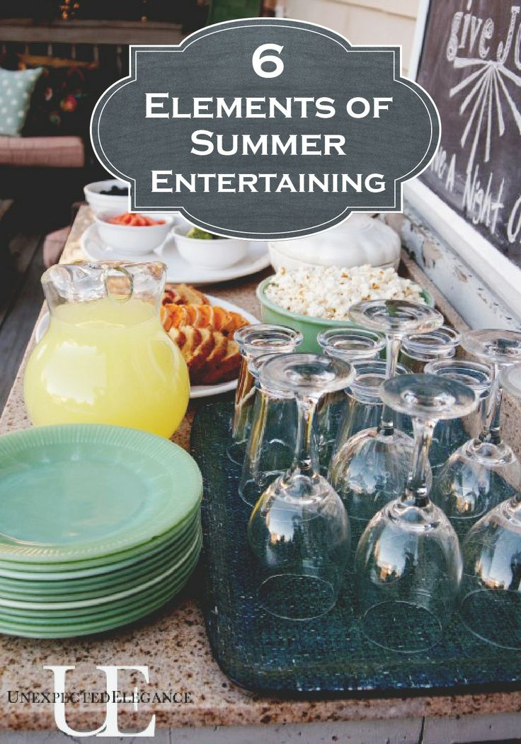 Throw the perfect summer party by incorporating these 6 elements for summer entertaining!