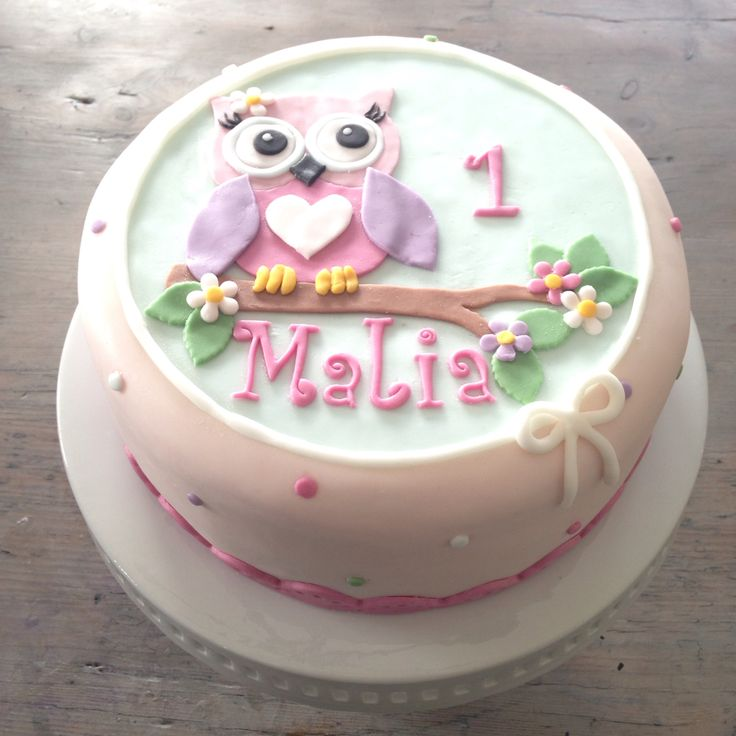 Owl Cake For First Birthday