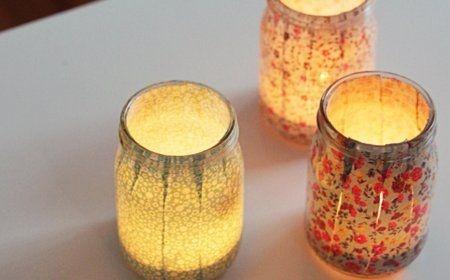 Velas hechas con telas y frascos de vidrio.jpg