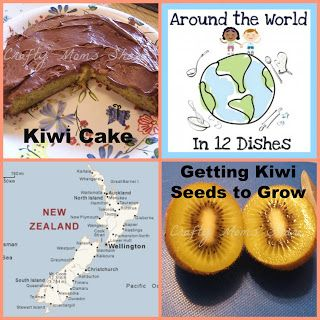 Crafty Moms Share: Around the World in 12 Dishes--New Zealand Kiwi Cake