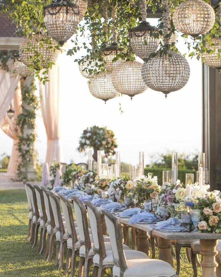 46 Luxusdekorationsideen für Hochzeitsfeiern im Freien