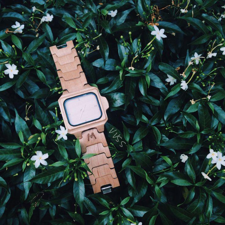 #watch #wood #matoa #green