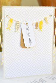 Die elegante Kombi Gelb-Weiß-Grau aus dem aktuellen April-Kit  der papierwerkstatt passt prima zum Thema Kommunion/Konfirmation. Hier eine e...