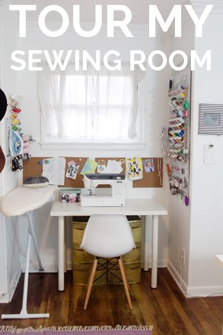 Where I Sew // Sewing Room Tour - see kate sew