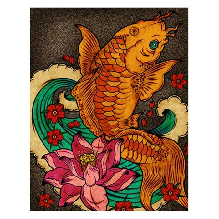 1000 images about tattoo on pinterest japanese koi for Japanese koi art prints