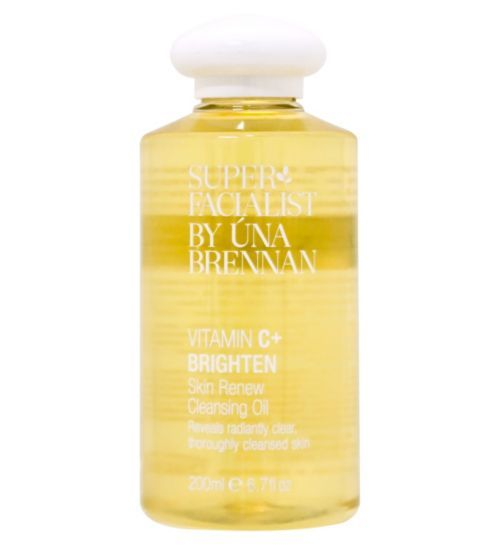 Superfacialist Vitamin C Skin Renew Cleansing Oil 200ml. Packaging drives me crazy but the product inside it is good...!