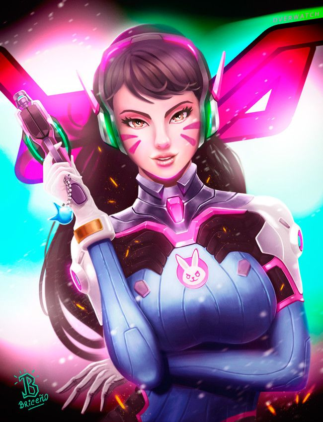 D.VA, Gastón Briceño on ArtStation at https://www.artstation.com/artwork/yKxaQ