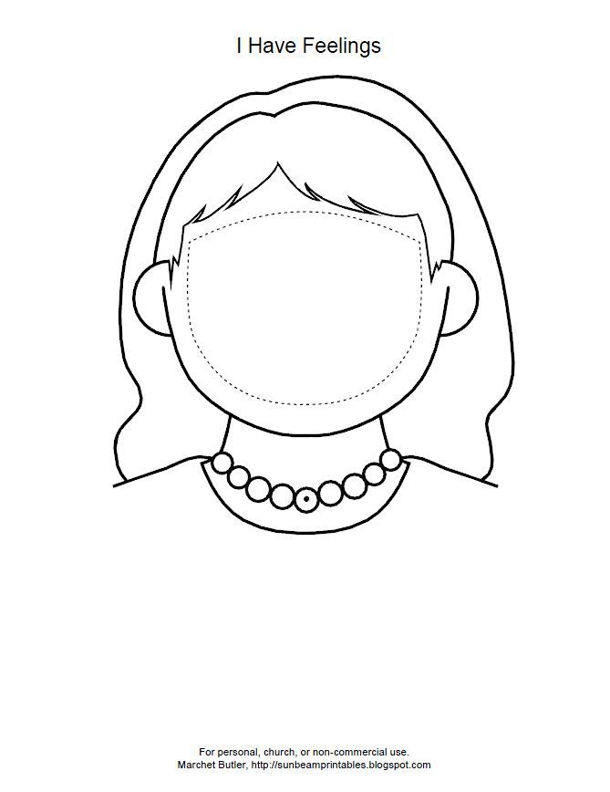 mood faces coloring pages - photo#23