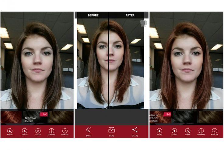 Give Any Virtual Hair Color A Try Modern Virtuelle Haarfarbe Haarfarben Bunte Haare