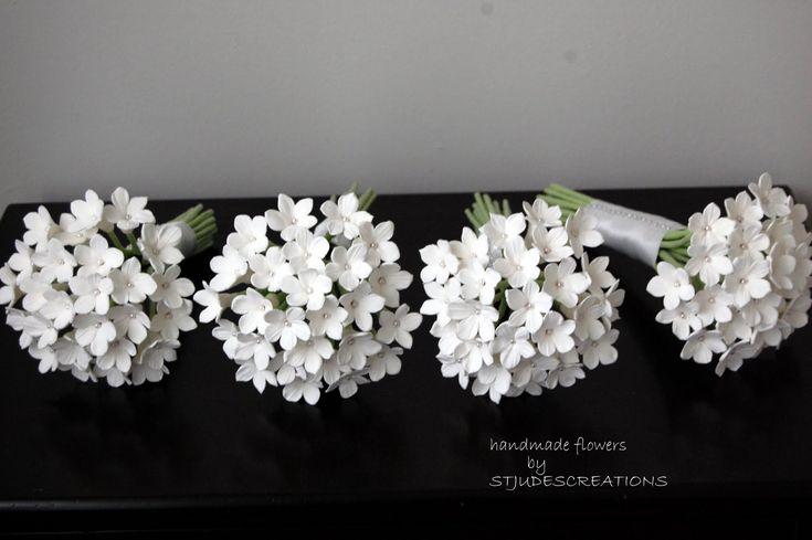 Gardenia Wedding Flowers   reading: Stephanotis wedding bouquets in clay Tweet this!