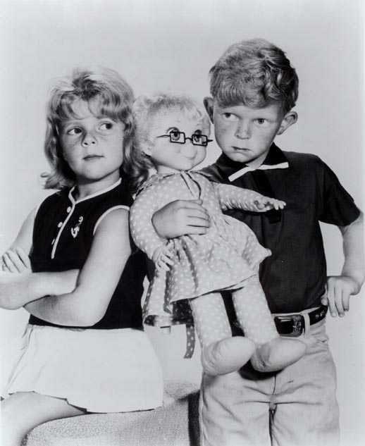 "Jody (Johnny Whitaker) and Buffy (Anissa Jones) and Mrs. Beasly. ""Family Affair"""