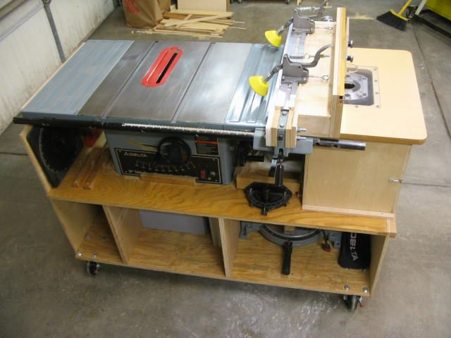 Combination Saw Bench Part - 25: Table Saw + Router Stand