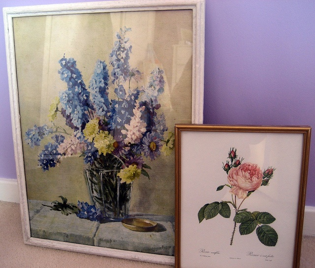 floral painting and print