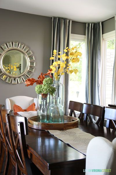Fall Home Tour Dining Room CenterpieceDining