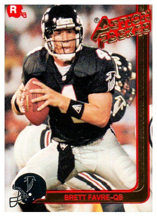 1991 Action Packed Brett Favre Rookie Card Atlanta Falcon Green Bay Packers