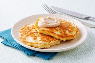 Apple Pancakes with Cinnamon-Sugar Topping recipe