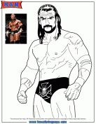 Triple H From WWE Coloring Page