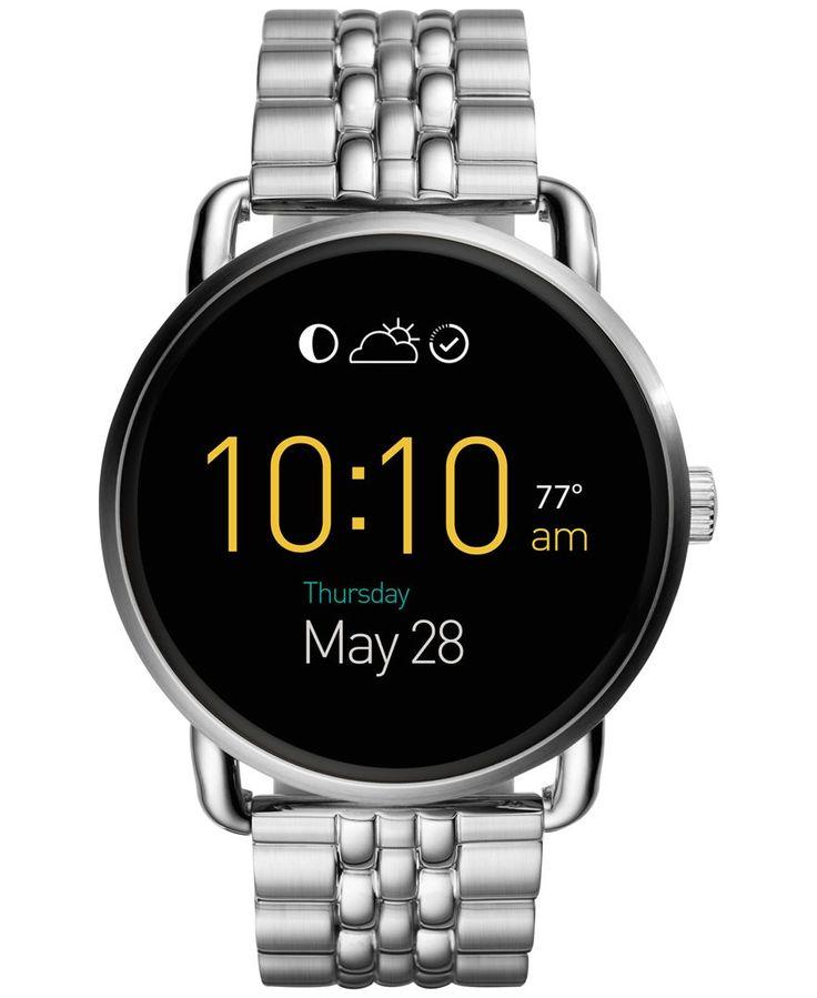 Fossil Women's Digital Q Wander Stainless Steel Bracelet Smart Watch 45mm FTW2111
