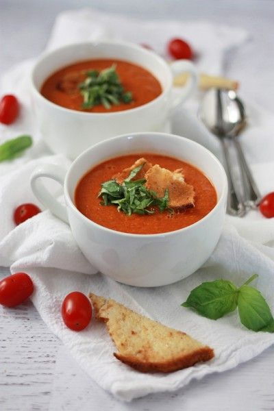 Roasted Tomato Basil Soup no cream needed