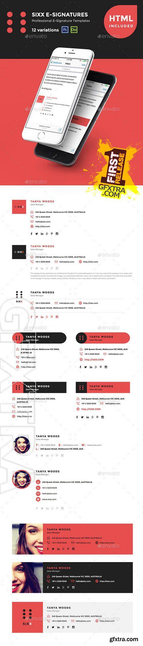 12 HTML Professional E-Signature Templates - Graphicriver 11241292