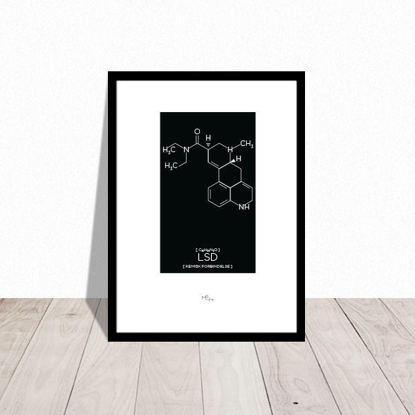 LSD - Kemisk struktur. Plakat design Mai-Britt Parylewicz.