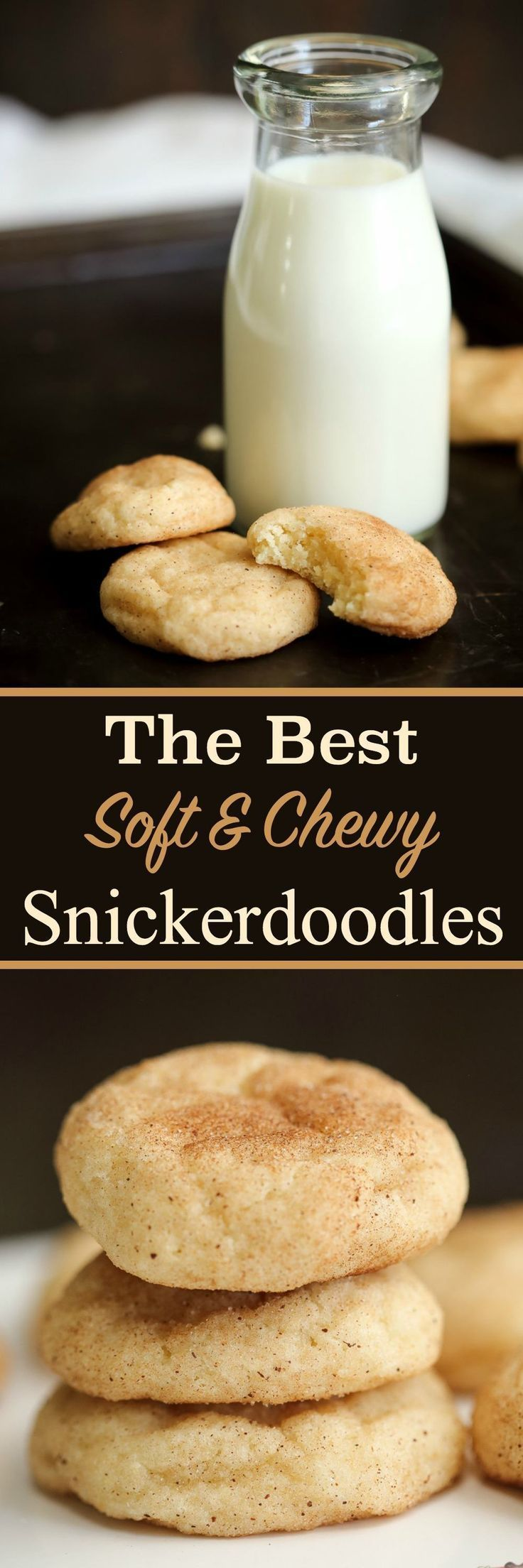 Discover the perfect soft & chewy snickerdoodle cookies recipe ever! These are the best homemade snickerdoodle cookies you'll ever try and oh so easy to bake from scratch! Crisp cinnamon outside & a soft fluffy buttery inside!