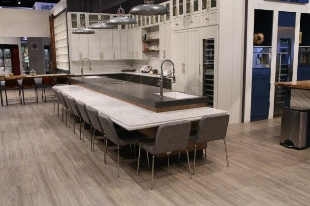 Welcome to our home at KBIS 2017! We begin in the kitchen (where else?) where our newest color, White Attica is the star of the show.