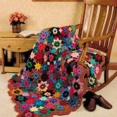 Crocheted Fall Flowers Afghan...FREE PATTERN!
