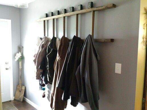 Ladder Coat Rack Drying Rack Laundry Clothes Drying