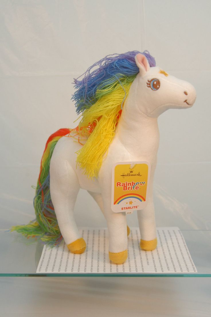 """""""Starlite~Rainbow Brite Plush Horse"""". POPULAR SOFT PLUSH HORSE ~perfect gift for that Someone Special! Not a problem! ◊ Did you need your item gift wrapped……we provide Gift WrappingFREE OF CHARGE ~~. 