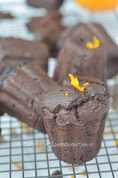 Gezonde chocoladecakjes van Rens Kroes.  Lekker smeuïg door de zachte kikkererwten. Ik ben fan!