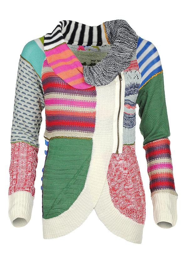 Desigual Pruit Knit Cardigan Multi