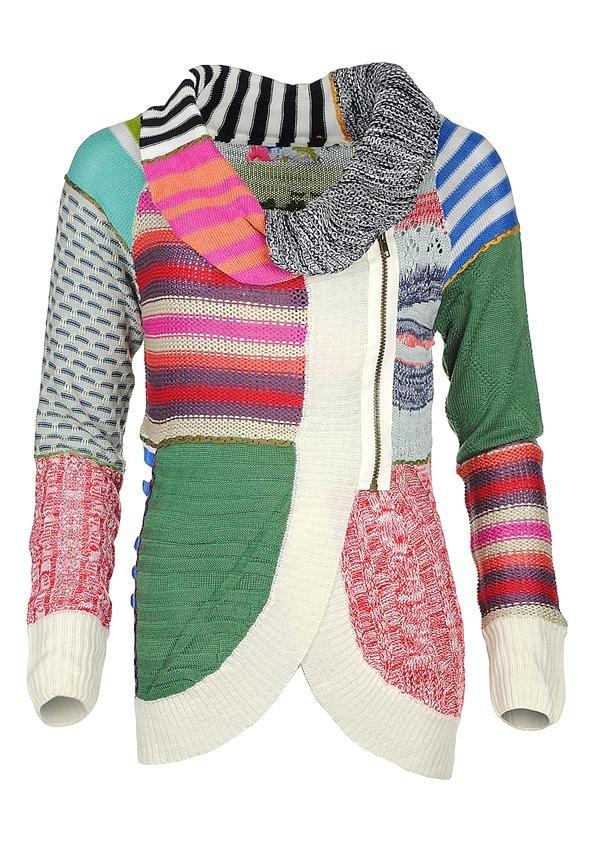 Desigual Pruit Knit Cardigan Multi