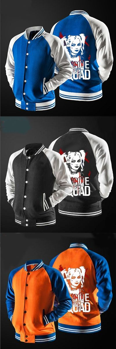 In 2017 the new free shipping New Suicide Squad Harley Quinn Joker  jacket  no hat,The highest quality, USA size.