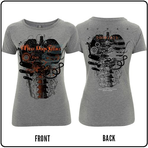 Three Days Grace - Grey BBD - Womens T-Shirt
